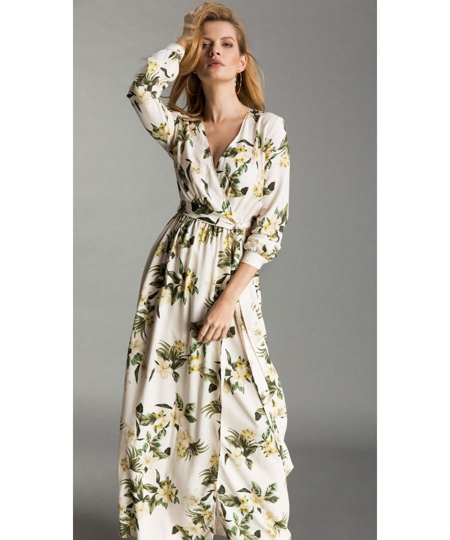 Image for Sylvianne Floral White Dress