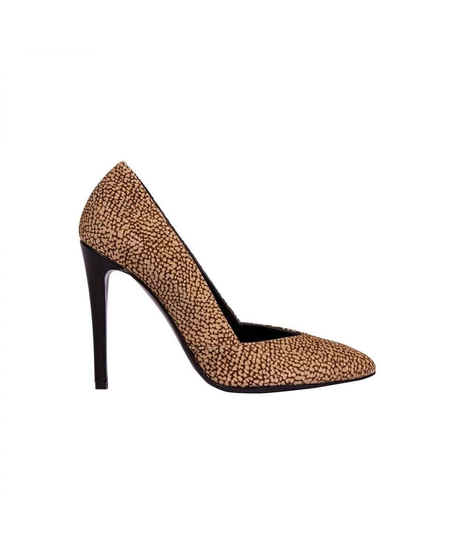 Image for BORBONESE WOMEN'S 6DR922625311 BROWN SUEDE PUMPS