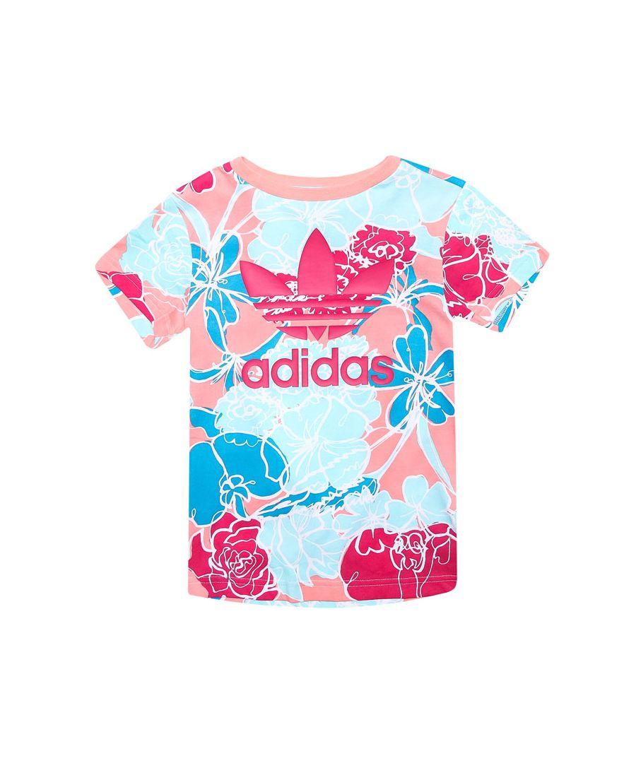 Image for Girls' adidas Originals Junior T-Shirt Pink 12-13in Pink