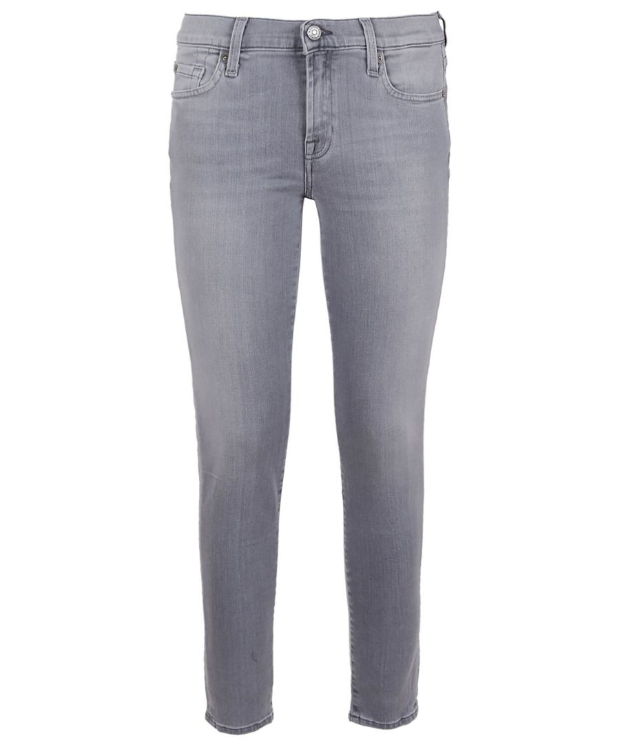 Image for 7 FOR ALL MANKIND WOMEN'S JSWTK520LGGREY GREY COTTON JEANS