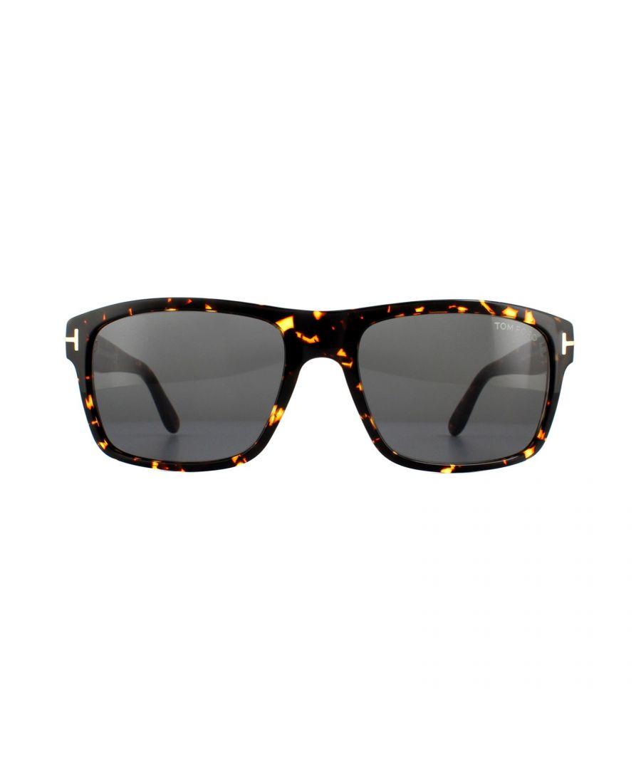 Image for Tom Ford Sunglasses August 0678 52A Dark Havana Smoke Grey Gradient