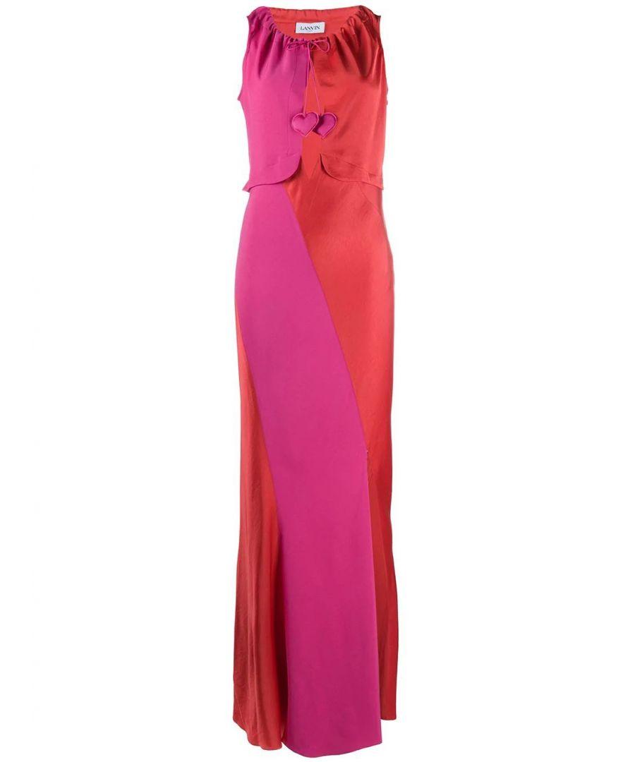 Image for LANVIN WOMEN'S RWDR366B3408P2030 MULTICOLOR VISCOSE DRESS