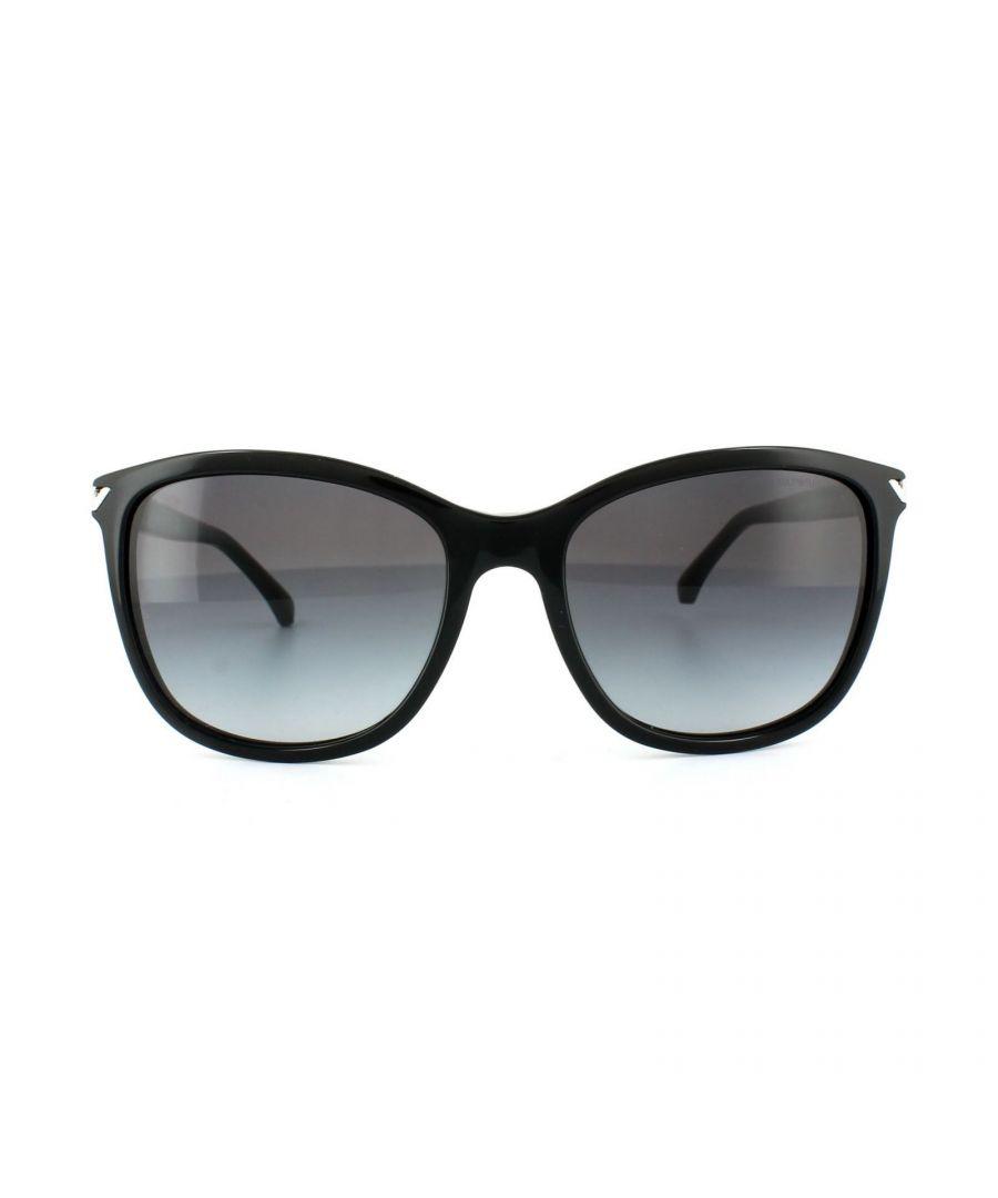 Image for Emporio Armani Sunglasses 4060 5017/8G Black Grey Gradient