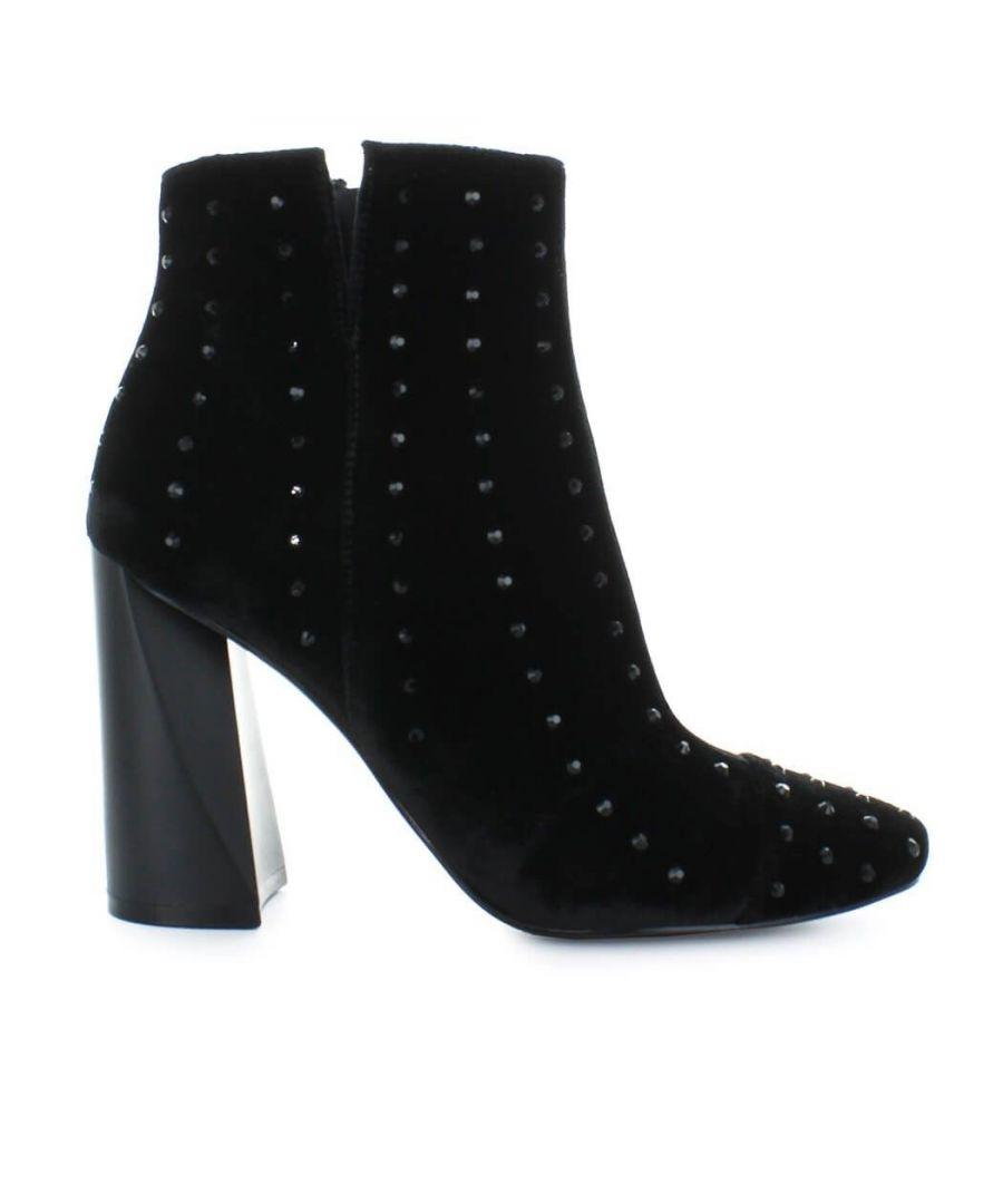 Image for KENDALL + KYLIE WOMEN'S KKTIAABLACK BLACK VELVET ANKLE BOOTS