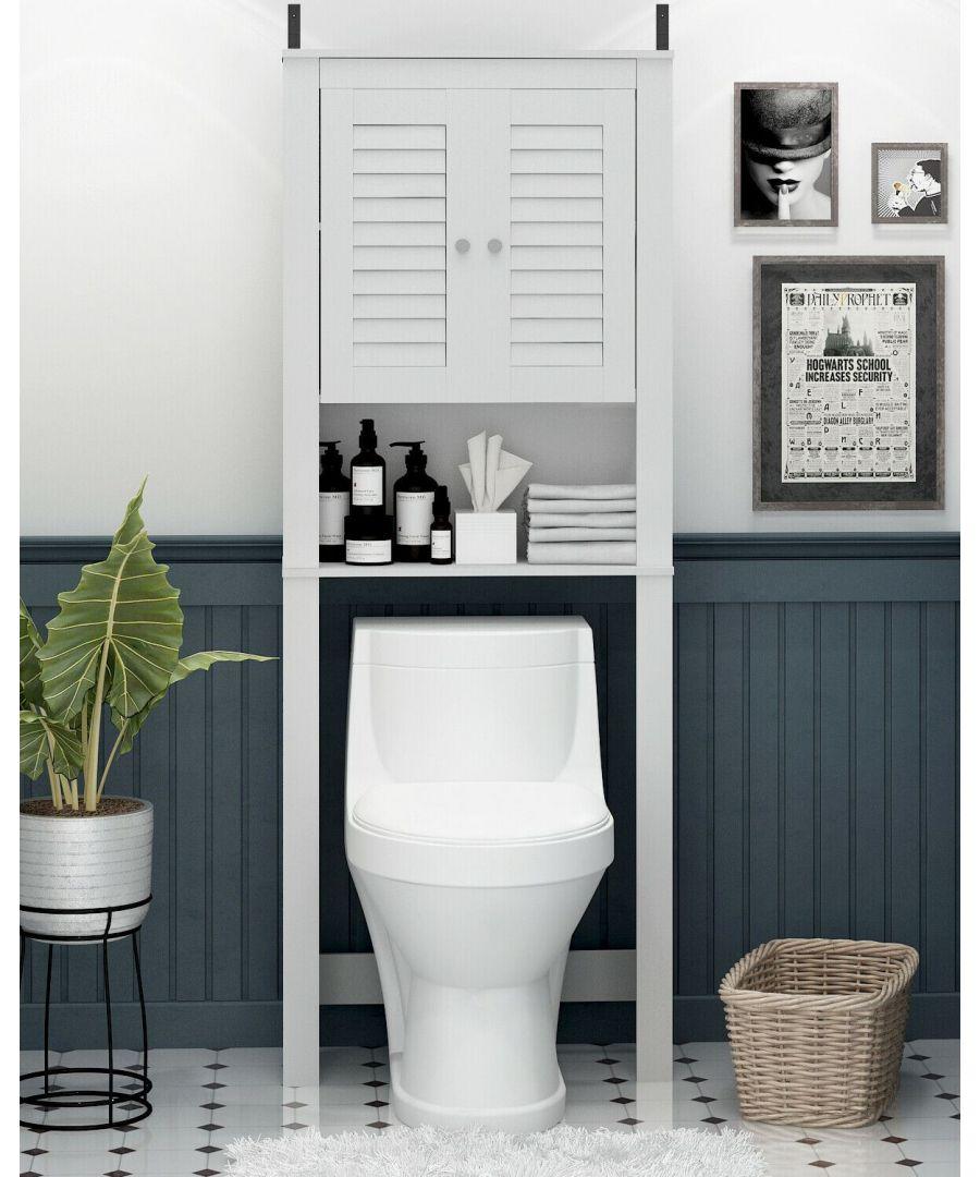 Image for Furinno Indo Louver Door Bath Cabinet, White