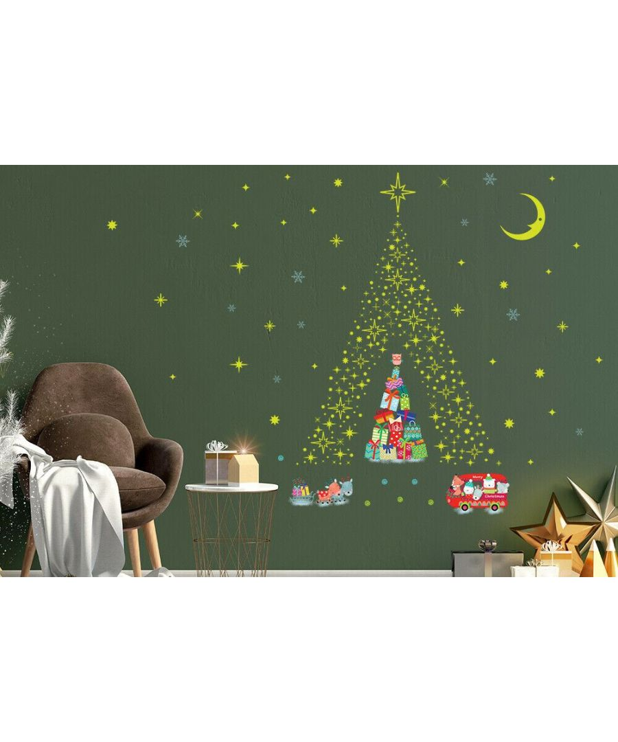Image for C3W0010 - Lovely Glow Stars and Reindeer Christmas Tree - WS4301 + WS3042 + WS3036