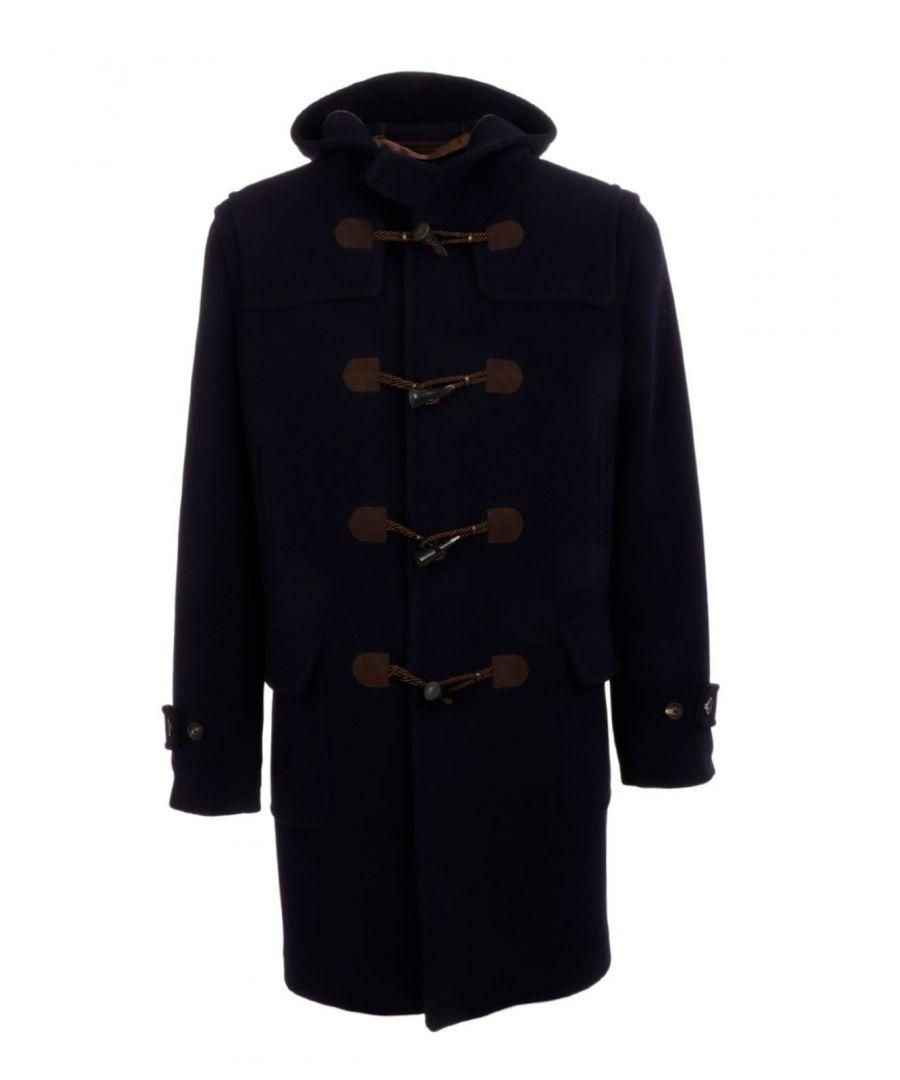Image for TAGLIATORE MEN'S ALPESH5SIC011B410 BLUE WOOL COAT