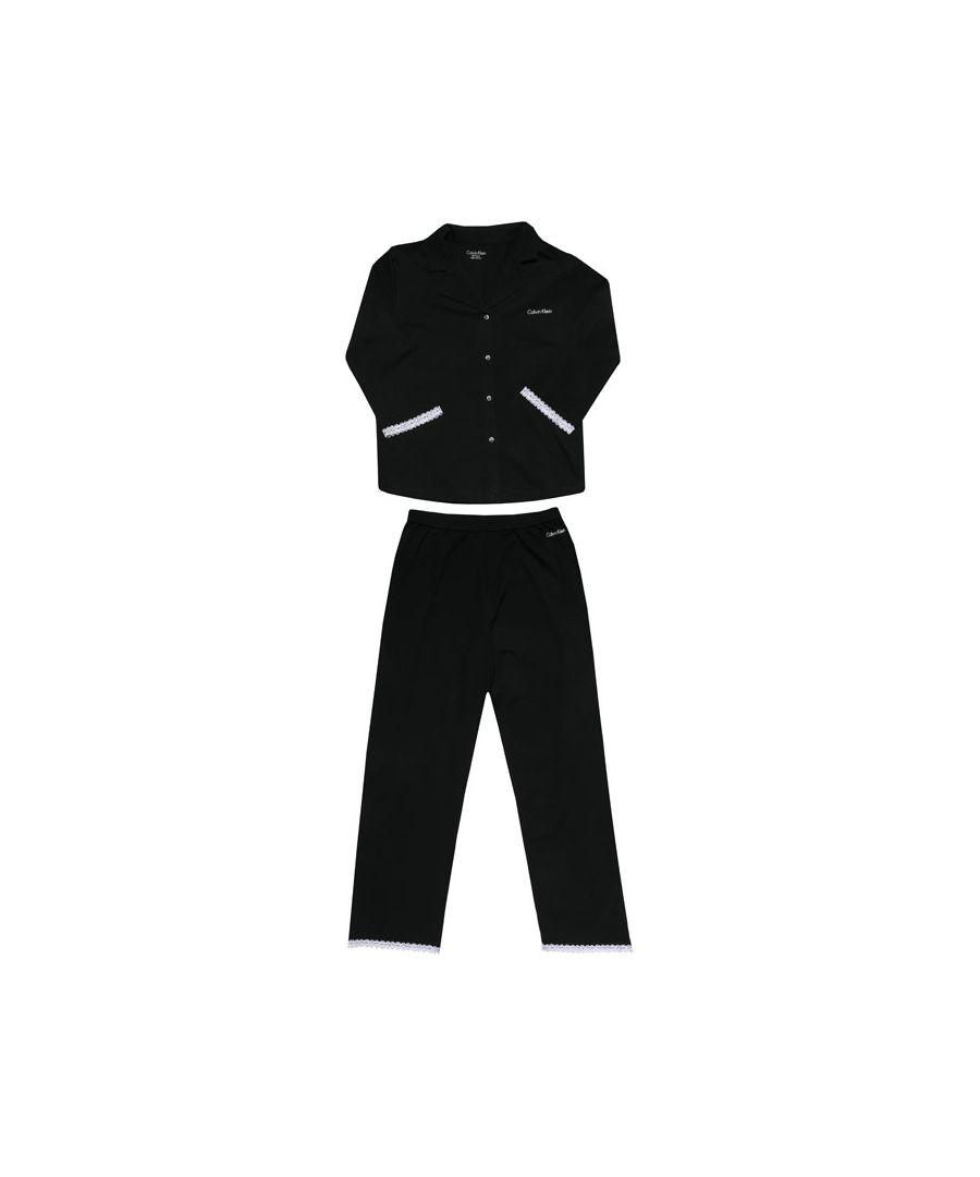 Image for Girls' Calvin Klein Junior Pyjamas Set in Black