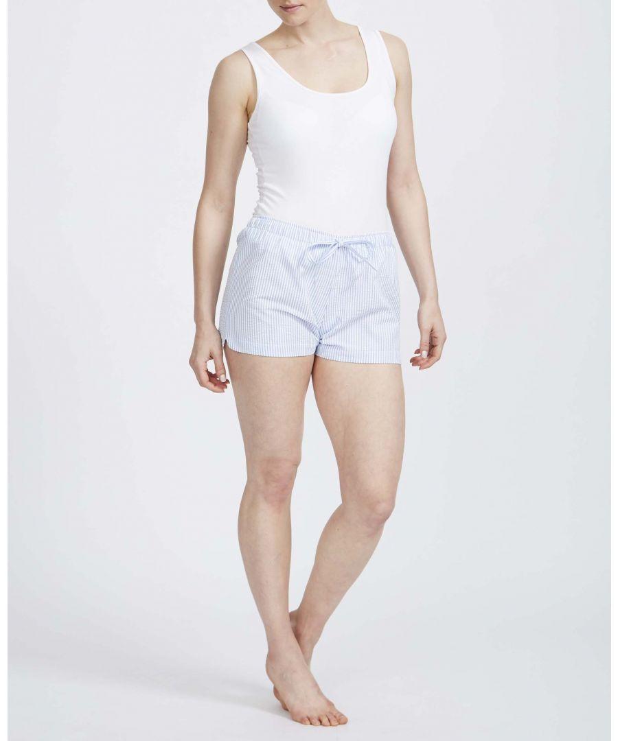 Image for British Boxers Women's Porthtowan Seersucker Sleep Shorts