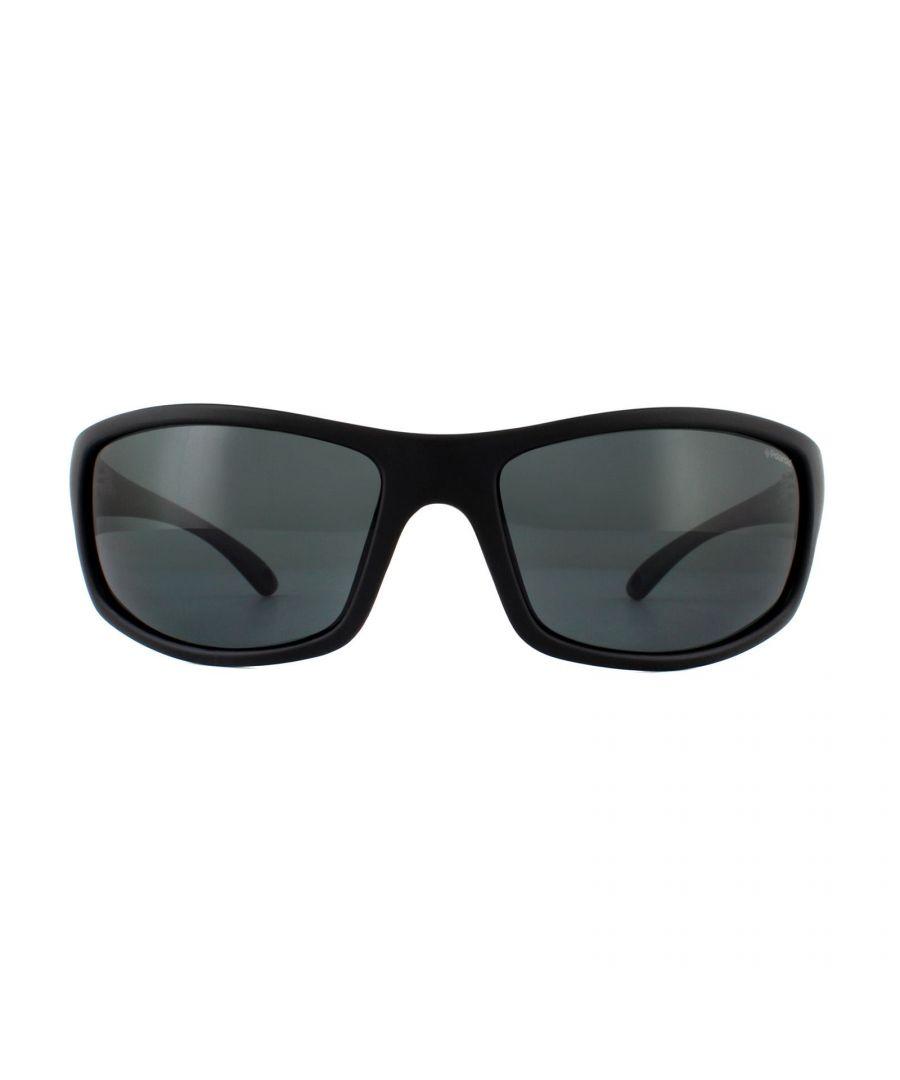 Image for Polaroid Sport Sunglasses PLD 7017/S 807 M9 Black Grey Polarized