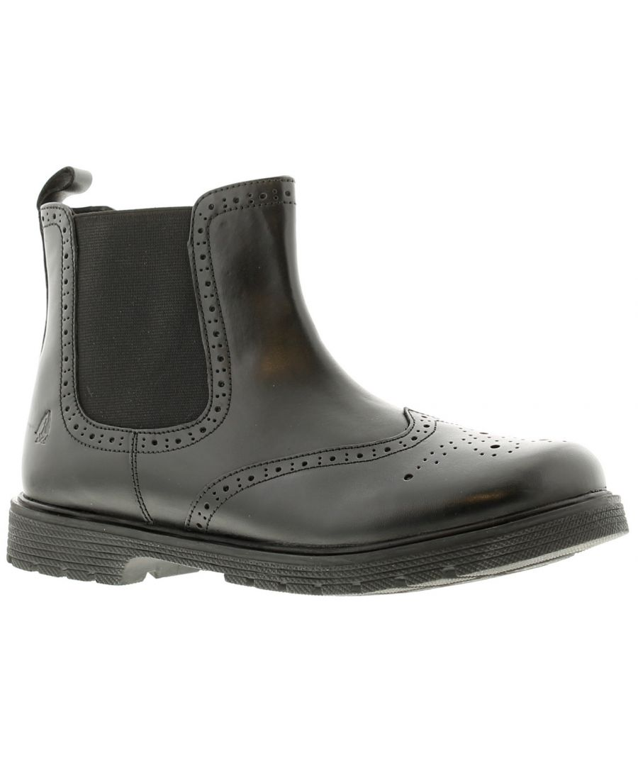 Image for Hush Puppies martha 2  leather Older Girls Boots black 12 - 6