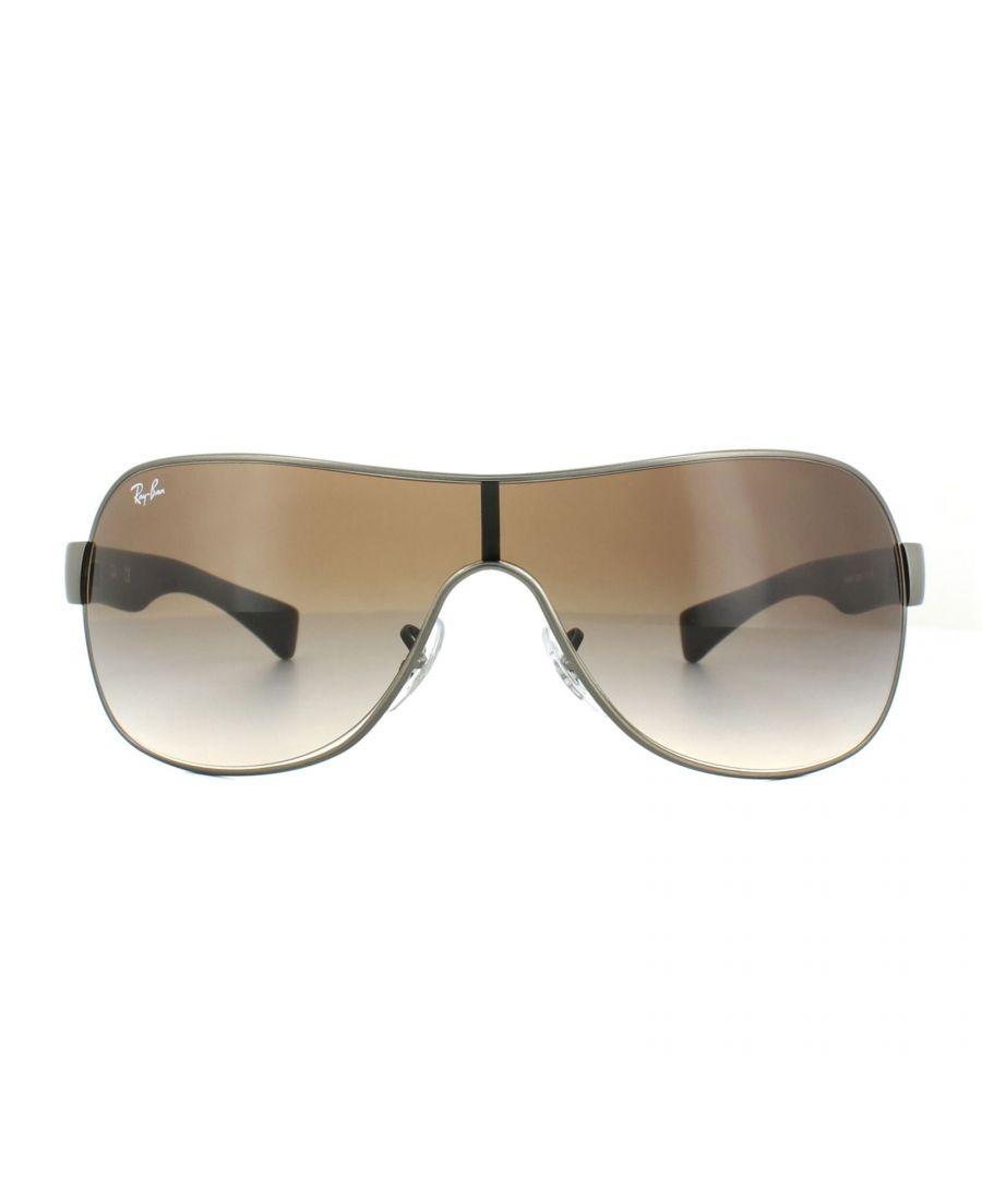 Image for Rayban Sunglasses 3471 Gunmetal Metal Matt Brown Gradient 029/13