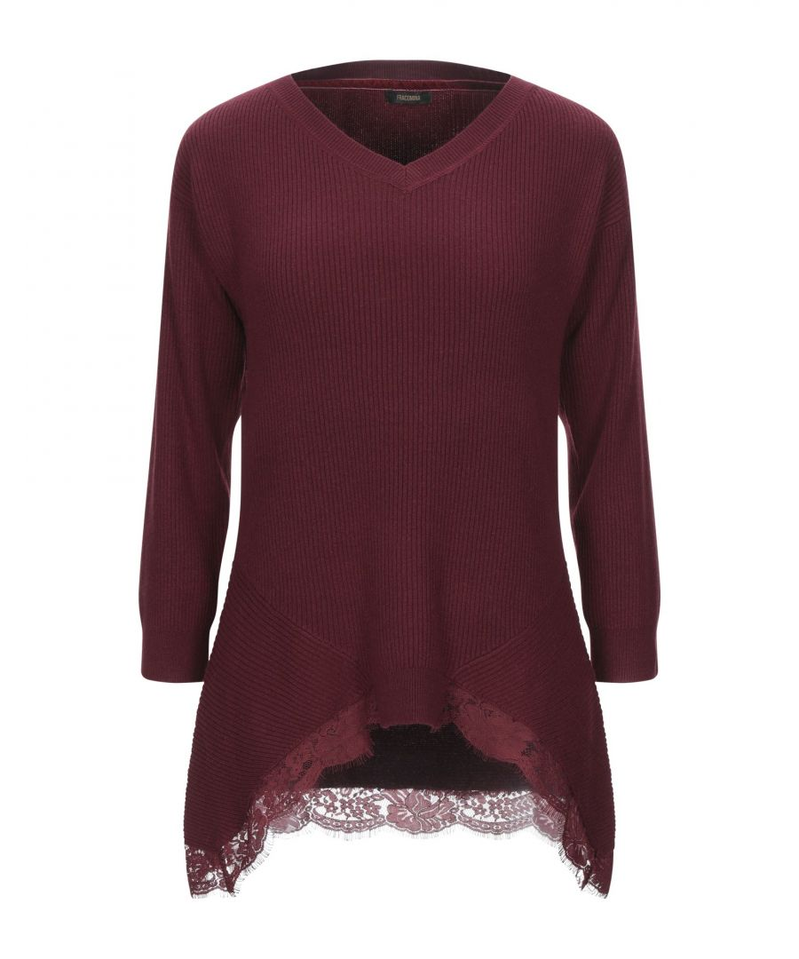 Image for Fracomina Lace And Lightweight Knit Jumper
