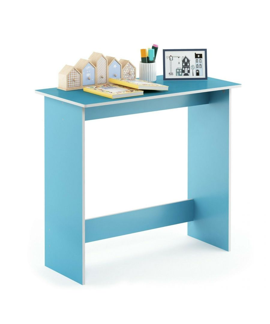 Image for Furinno Simplistic Study Table - Light Blue/White