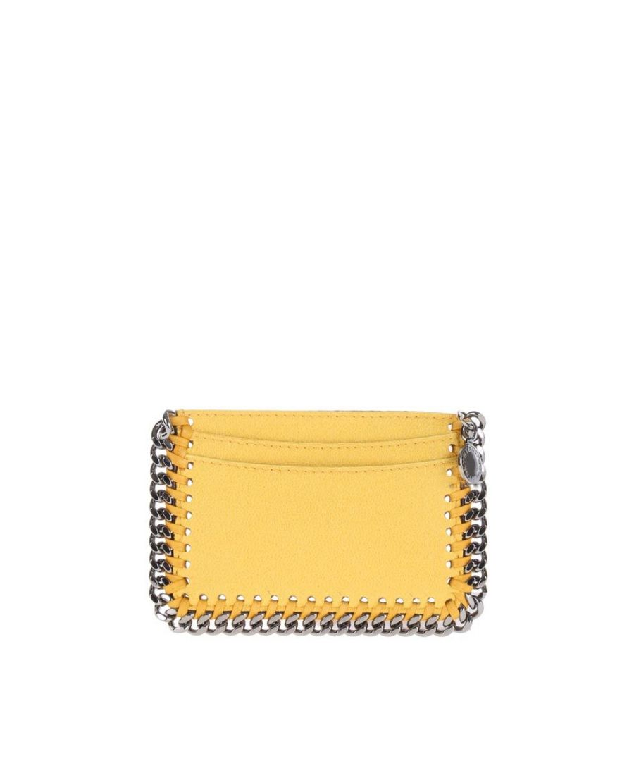 Image for STELLA MCCARTNEY WOMEN'S 371371W91327050 YELLOW POLYESTER CARD HOLDER