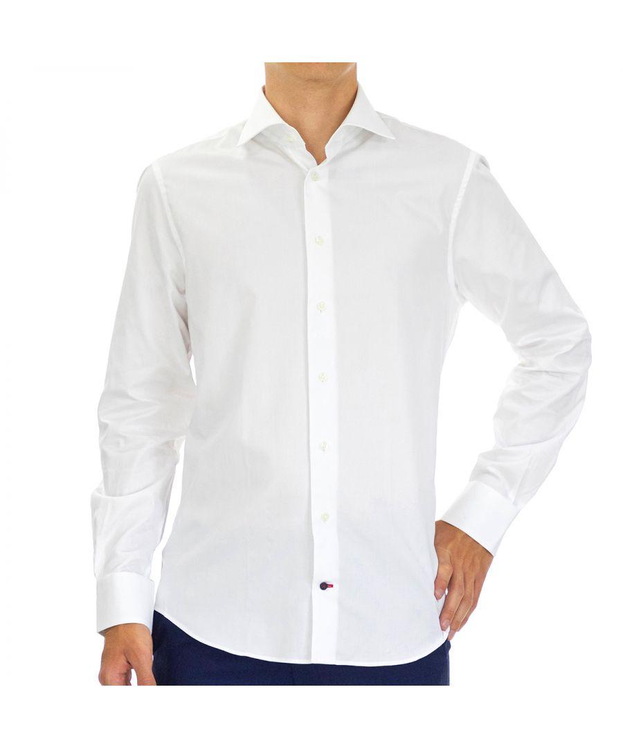 Image for Tommy Hilfiger Men's Shirt Regular Fit Full Sleeve White