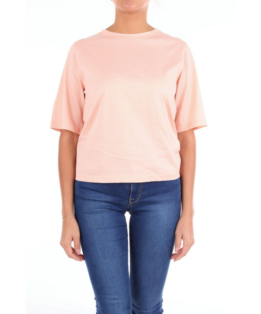 Image for JUCCA WOMEN'S J2918004PINK PINK COTTON T-SHIRT