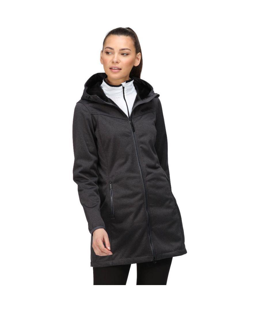 Image for Regatta Womens Alerie II Hooded Softshell Coat Jacket