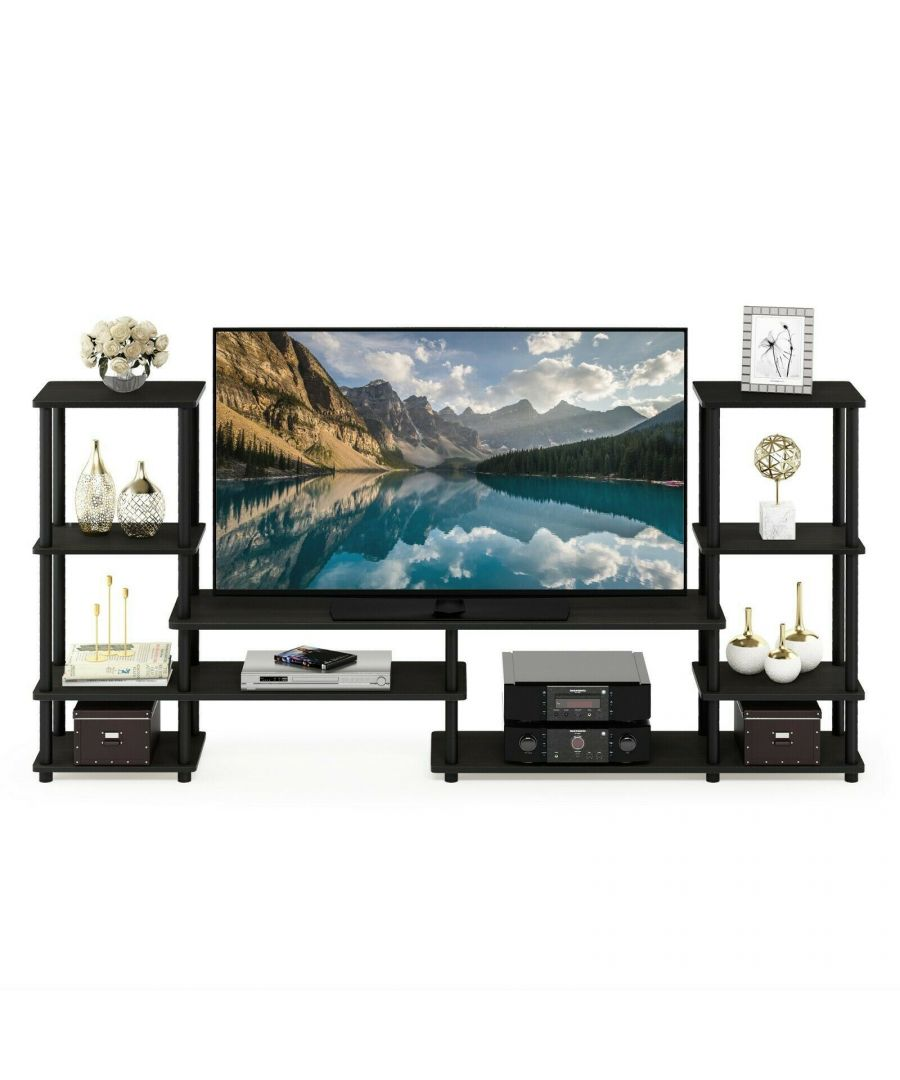 Image for Furinno Turn-N-Tube Grand Entertainment Center - Espresso/Black