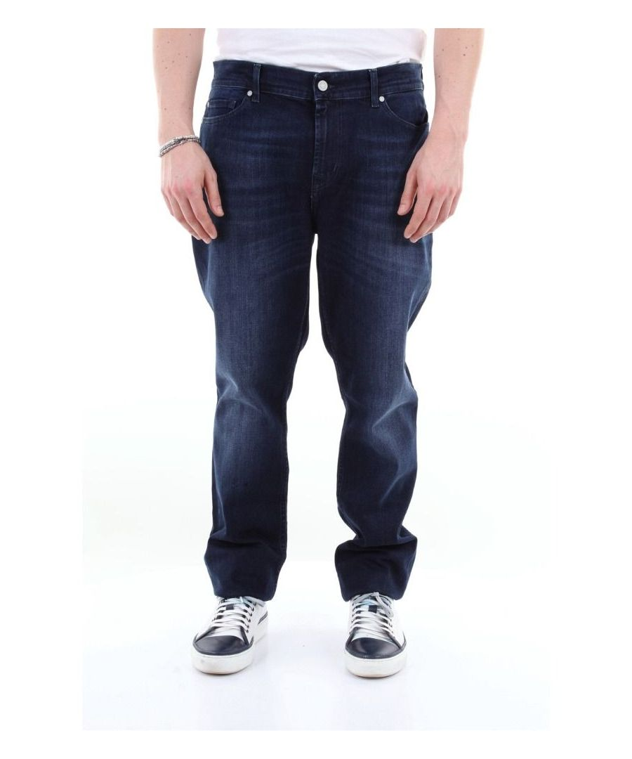 Image for 7 FOR ALL MANKIND MEN'S JSD4R460AIJEANSSCURO BLUE COTTON JEANS
