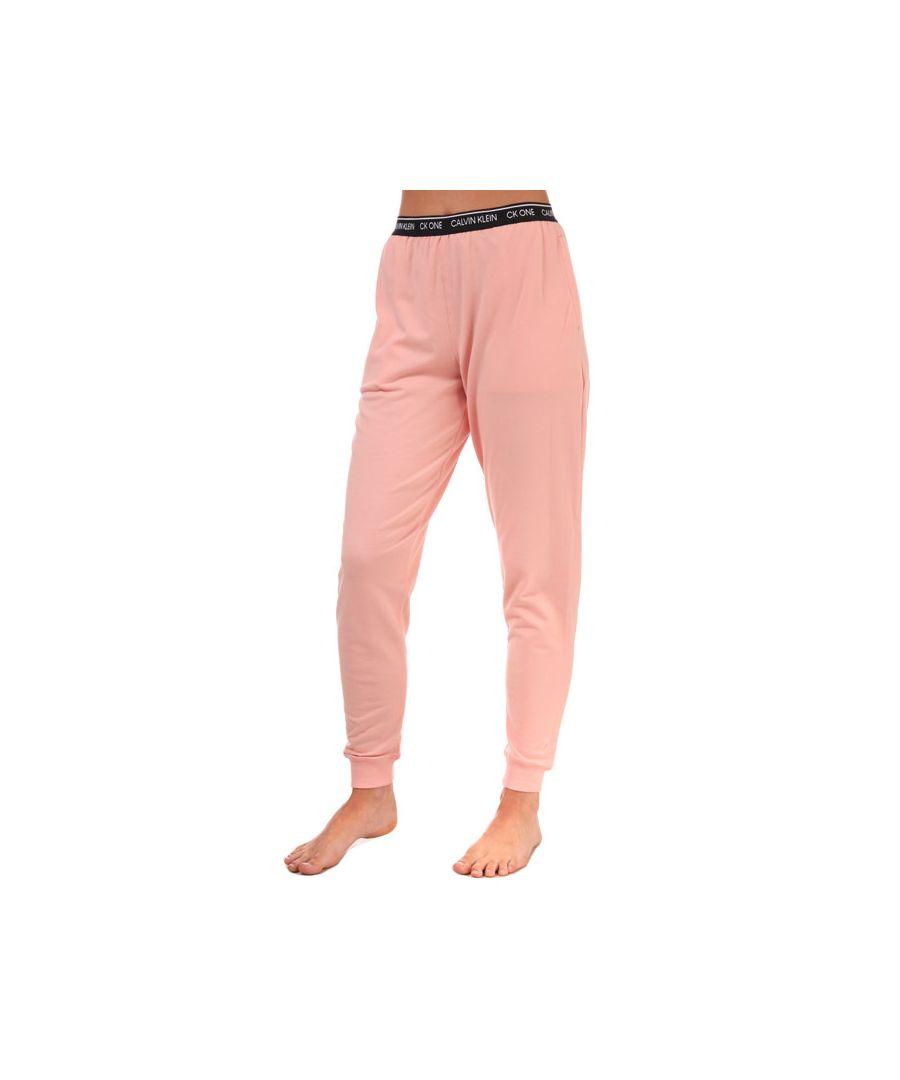 Image for Women's Calvin Klein Lounge Jog Pants Dusky Pink 12-14in Dusky Pink