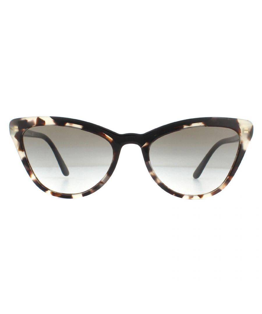 Image for Prada Sunglasses PR01VS 3980A7 Opal Spotted Brown Black Grey Gradient