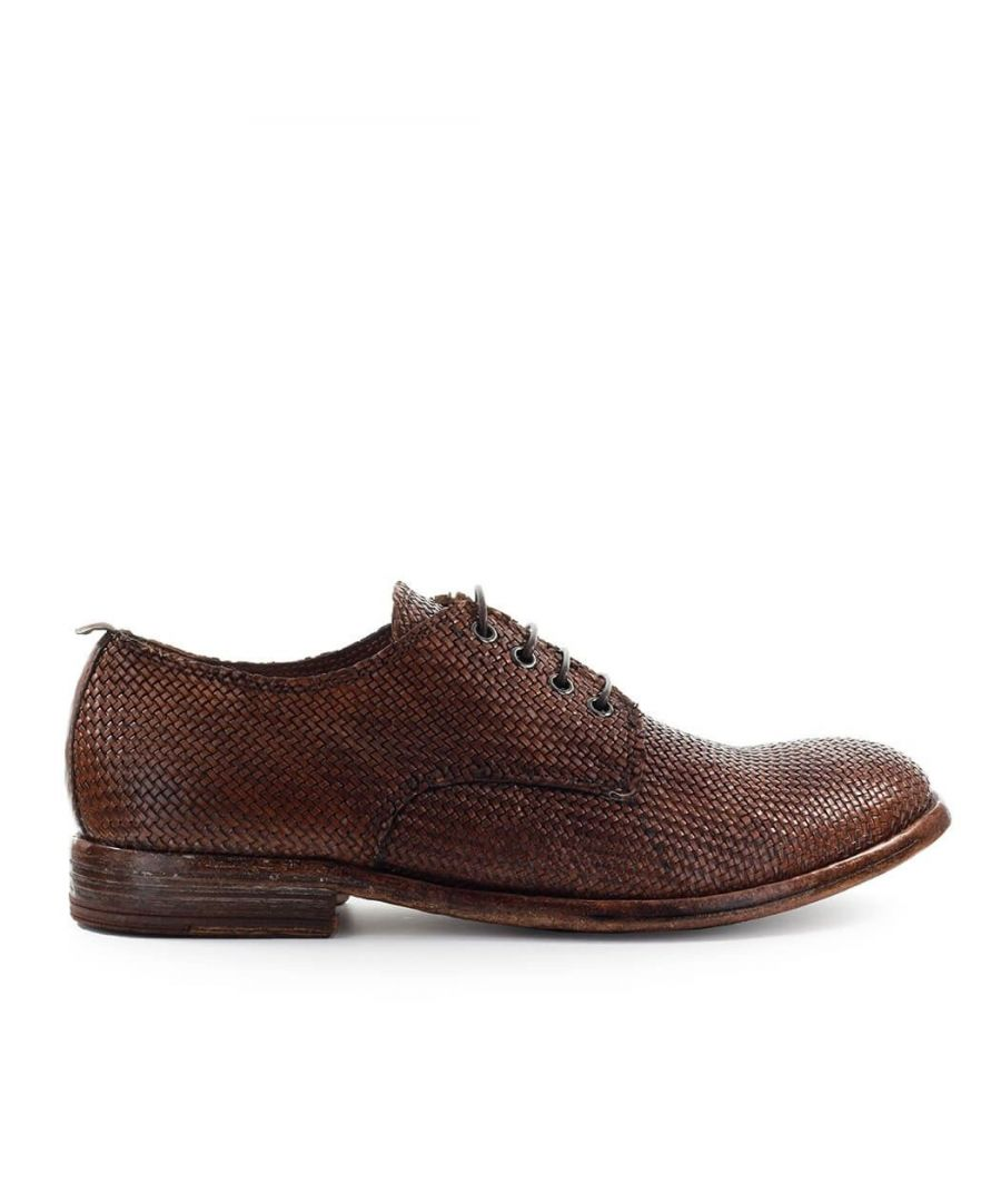 Image for MOMA MEN'S 2AS032INBROWN BROWN LEATHER LACE-UP SHOES