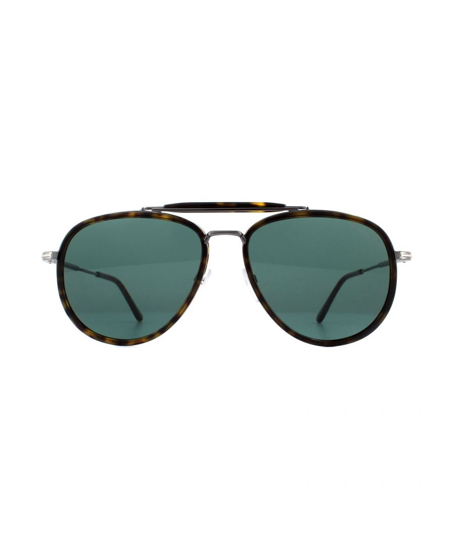 Image for Tom Ford Sunglasses Tripp 0666 52N Dark Havana Green Gradient