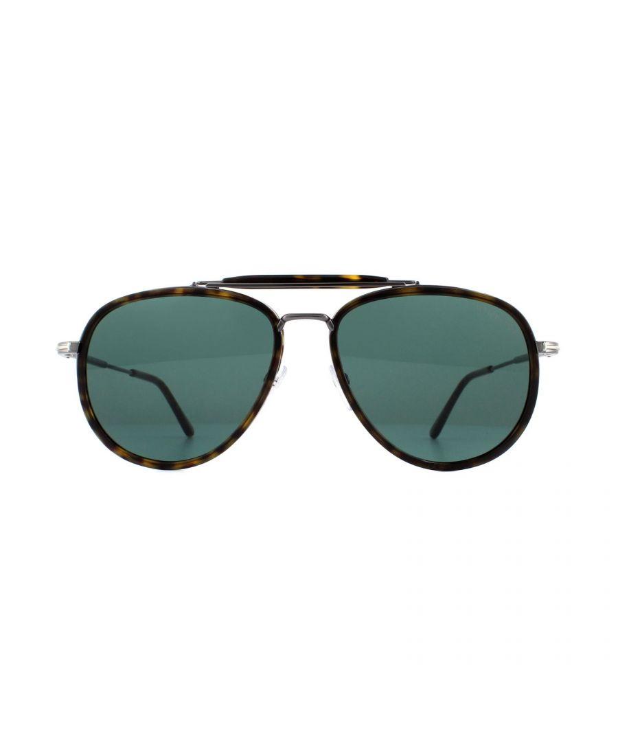 Image for Tom Ford Sunglasses Tripp 0666 52N Dark Havana Green Gradient