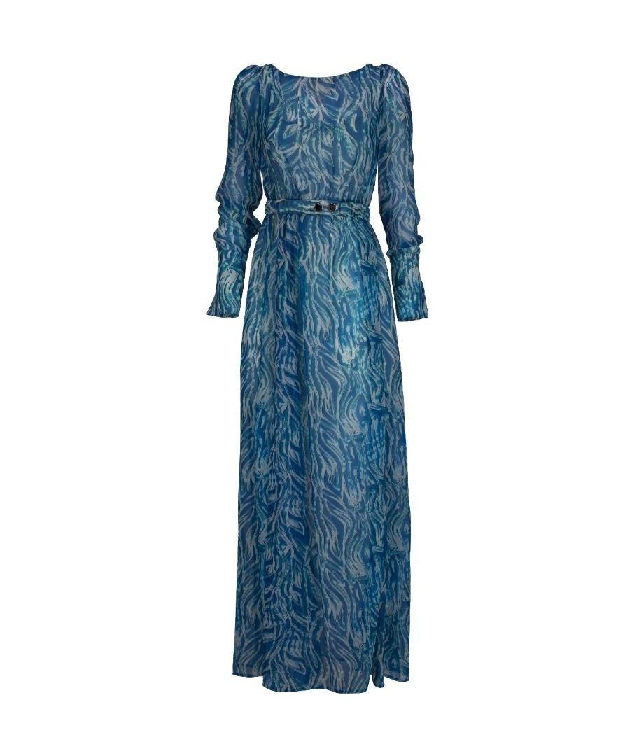 Image for PATRIZIA PEPE WOMEN'S 8A0687A612FBF7 BLUE VISCOSE DRESS