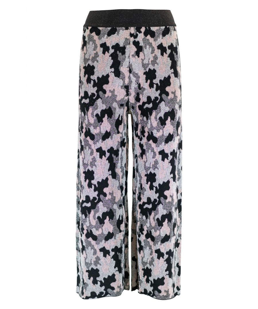 Image for TWENTY EASY BY KAOS WOMEN'S FP042CAMOU GREY POLYESTER PANTS