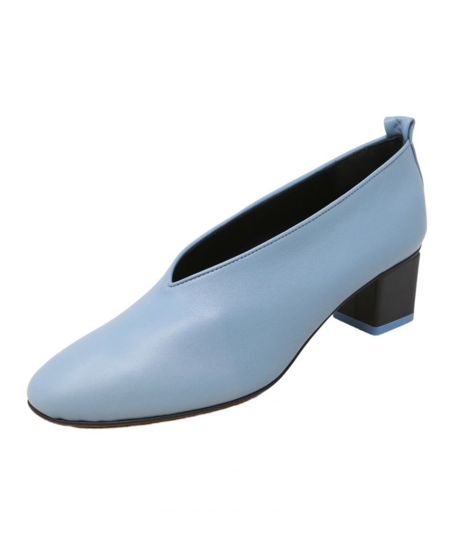 Image for Gray Matters Women's Mildred Classica Pump Cielo Nero Leather - 8.5M