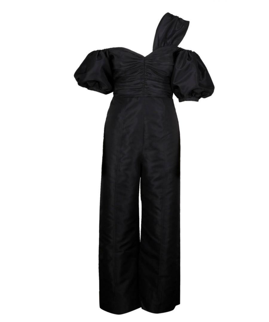 Image for SELF-PORTRAIT WOMEN'S SP23061JBLACK BLACK POLYESTER JUMPSUIT