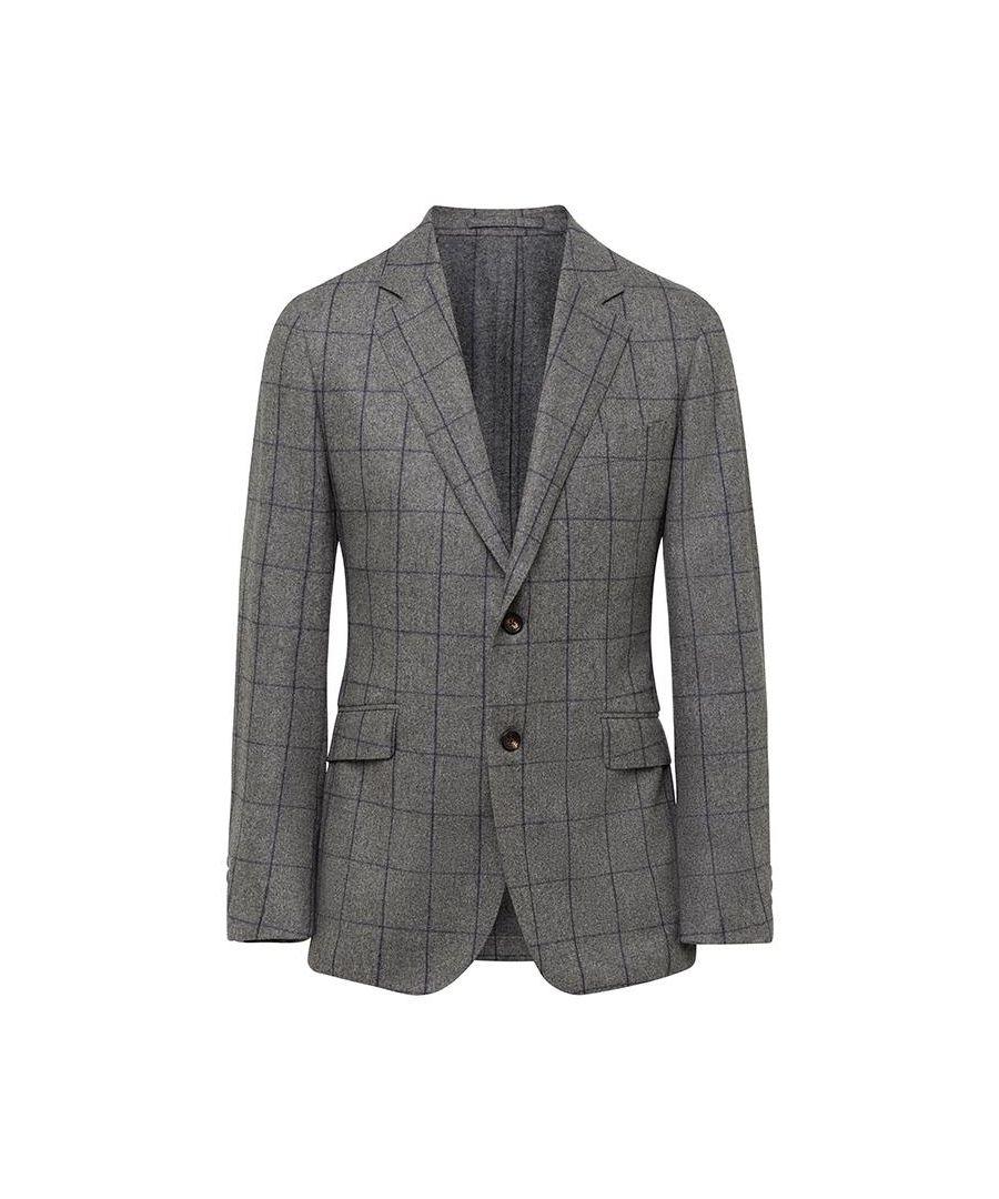 Image for Men's Hackett, Flannel Windowpane Jacket in Grey & Blue