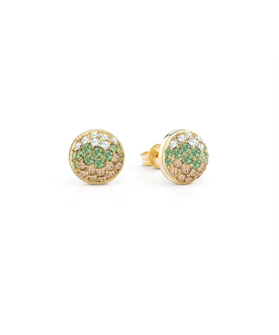 Image for Guess ID Ladies Gold Non Logo Earrings