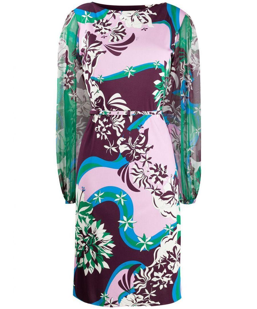 Image for EMILIO PUCCI WOMEN'S 0EJH450E747005 MULTICOLOR SILK DRESS
