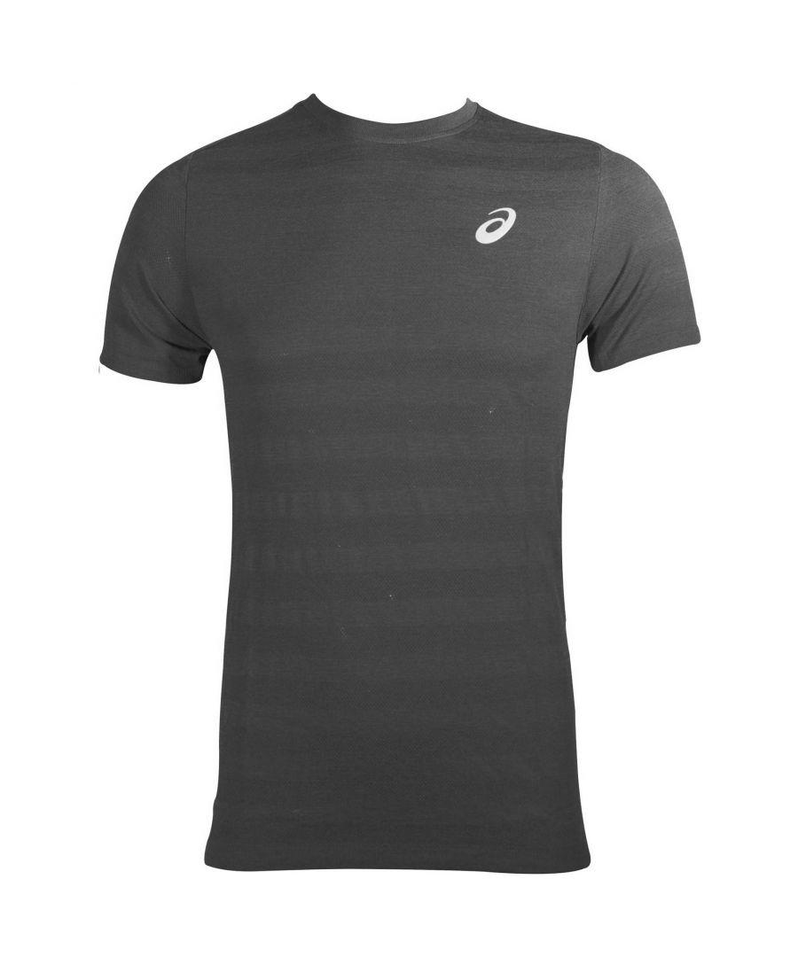 Image for Asics Sport Seamless Knit Men's T-Shirt in Dark Grey