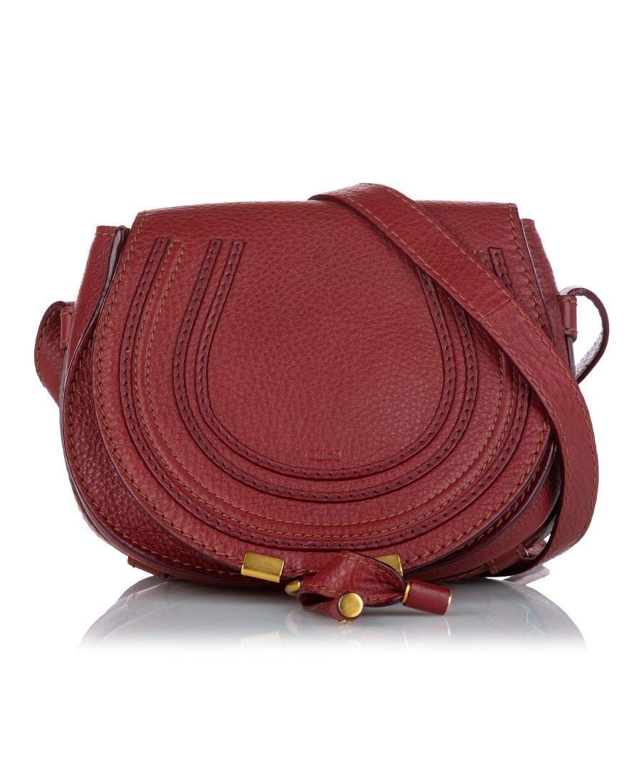 Image for Vintage Chloe Marcie Leather Crossbody Bag Brown