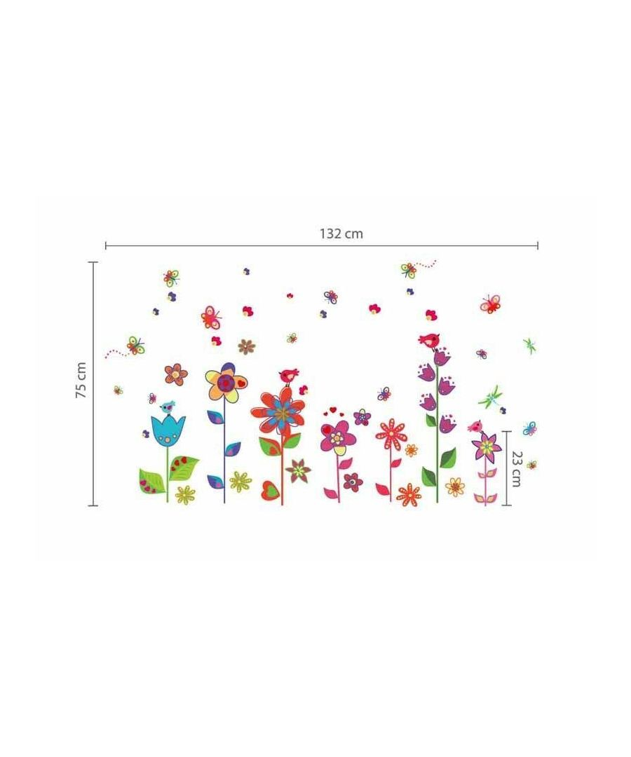 Image for WS9015 - Colorful Flowers Butterflies