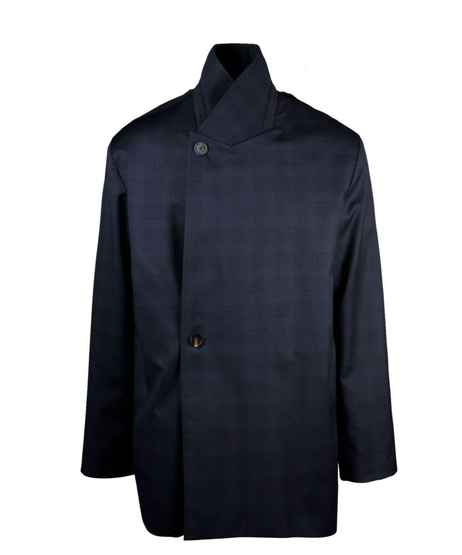 Image for BALENCIAGA MEN'S 601167TGT014100 BLUE WOOL COAT