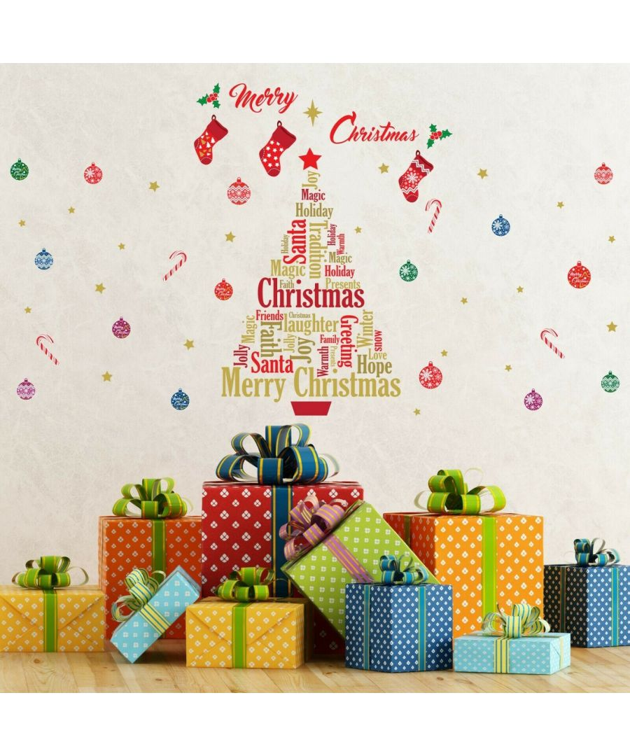 Image for WFXC6305 - COM - WS4026 + WS3322 - English Quotes Merry Christmas Tree
