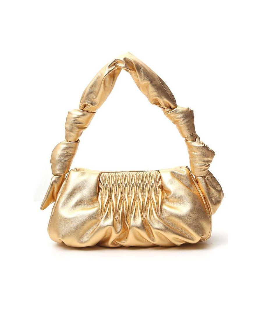 Image for MIU MIU WOMEN'S 5BF0972C9PF0522 GOLD LEATHER SHOULDER BAG