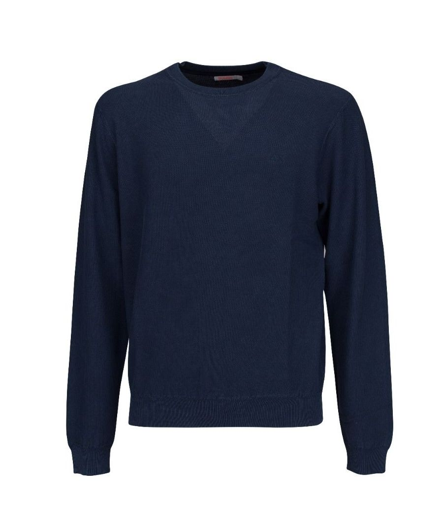 Image for SUN 68 MEN'S K3010907 BLUE COTTON SWEATER