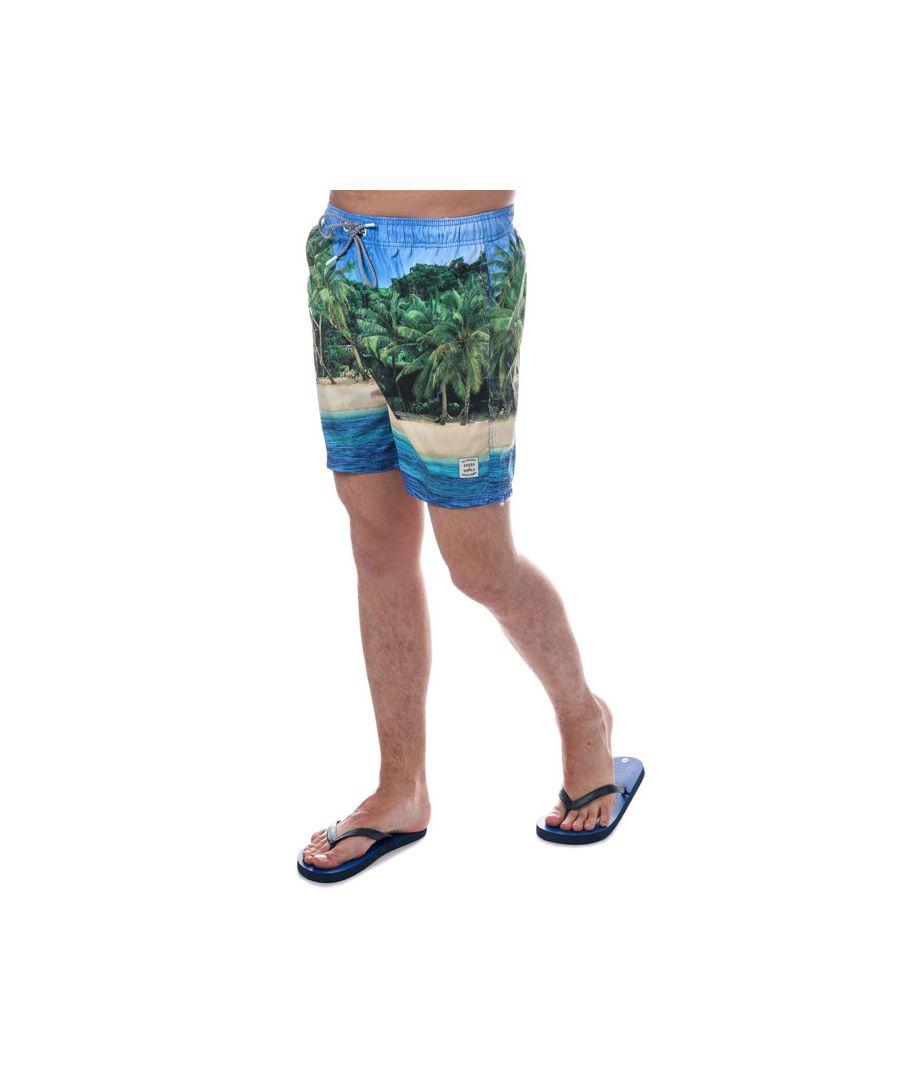 Image for Men's Tokyo Laundry Juan Swim Shorts (Free Flip Flops) in Blue