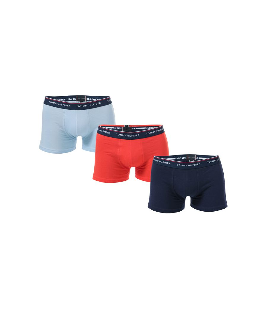 Image for Men's Tommy Hilfiger 3 Pack Stretch Cotton Trunks in Various
