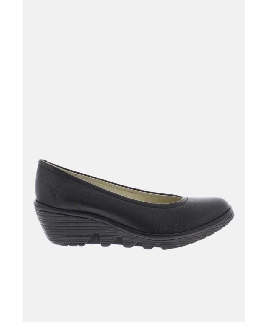 Image for Fly London Pump Black Mousse