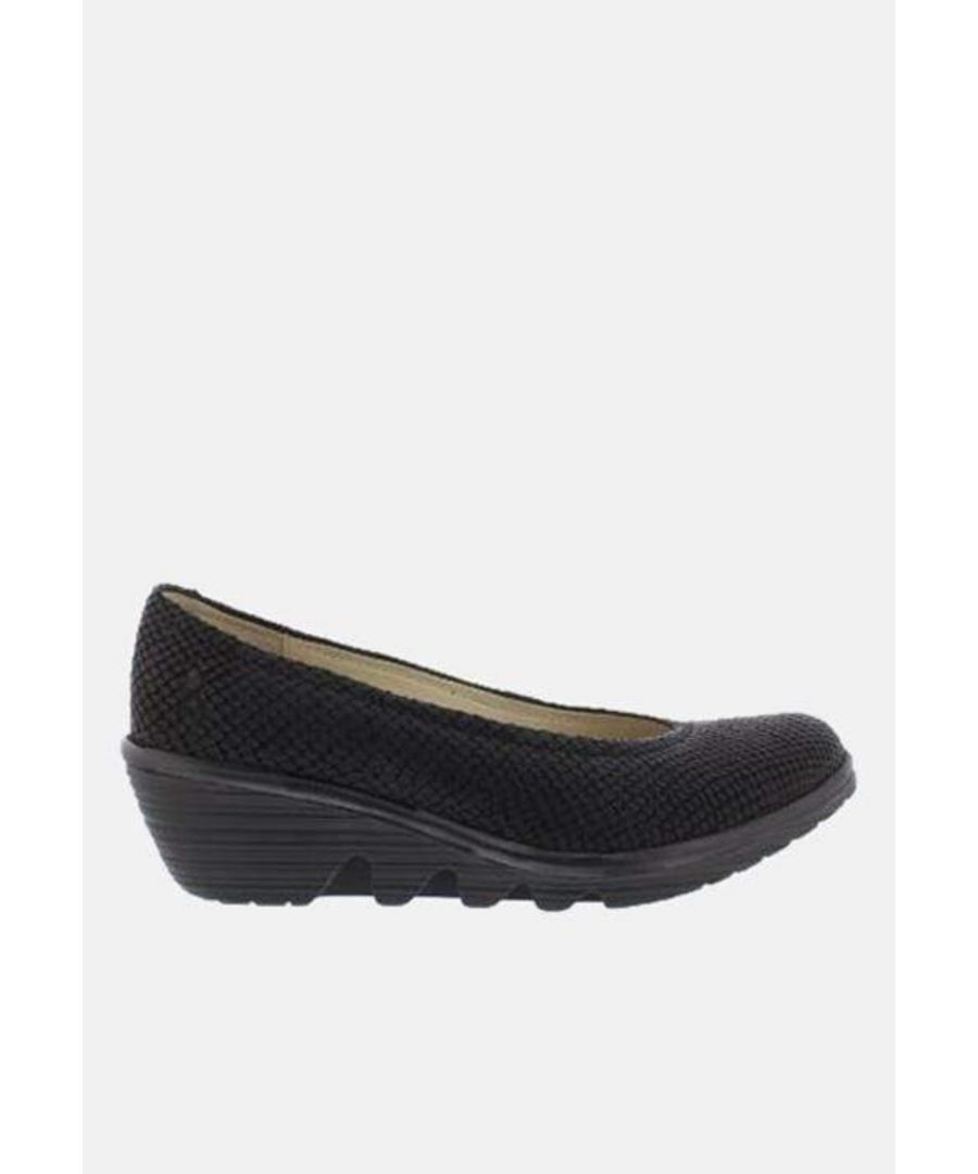 Image for Fly London Pump Black Tenerife