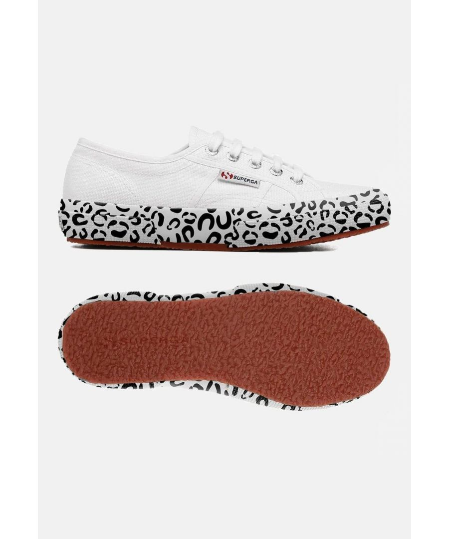 Image for Superga 2750 Cot W Printed Foxing White Leopard