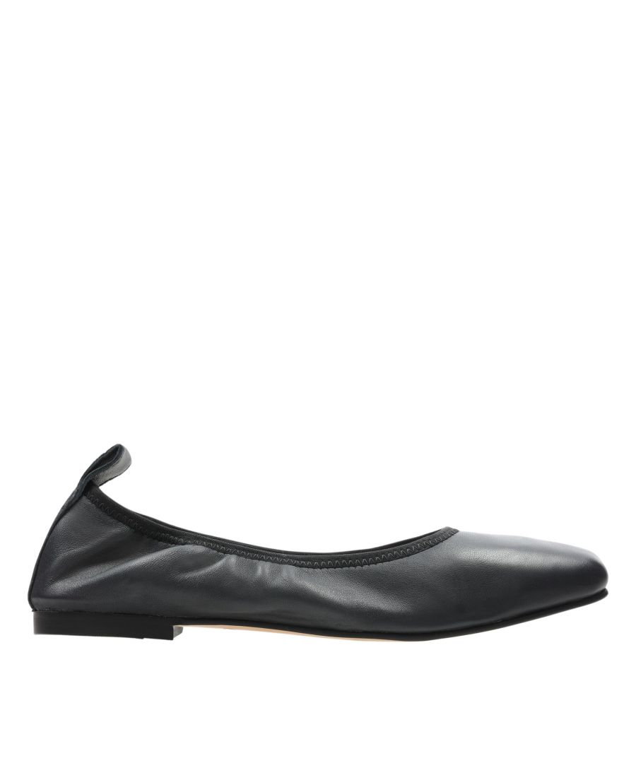 Image for Clarks Pure Ballet 26158475 Black Leather