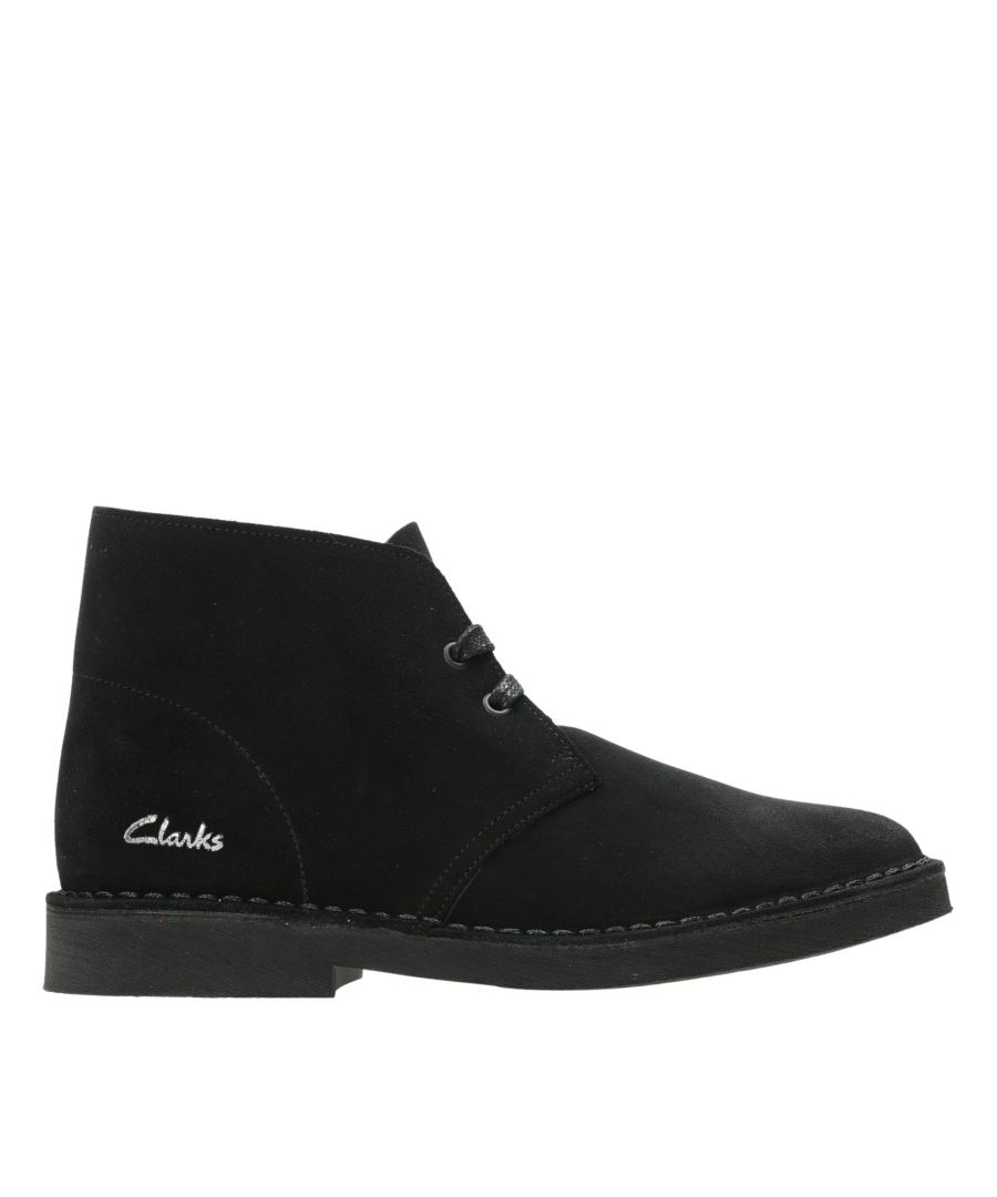 Image for Clarks Desert Boot 2 26155666 Black Suede